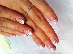wedding nail. Bling those tips!