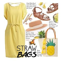 """Carry On: Straw Bags"" by beebeely-look ❤ liked on Polyvore featuring Sensi Studio, Dolce&Gabbana, Summer, casualoutfit, sammydress and strawbags"