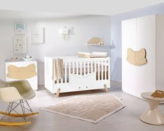 Fox E cot bed is stunningly designed cot and toddler bed in one.The frame is white, and the fox face is available in white or natural wood. Fox E cot bed is a contemporary furniture piece with an innovative use of straight and curved lines that looks stylish in any nursery. Simple, chic and fun. It is appealing with its soft colors and the choice of animal designs. This cot has the option of two different mattress heights and also converts into a toddler bed. Conversion to toddler bed piece…