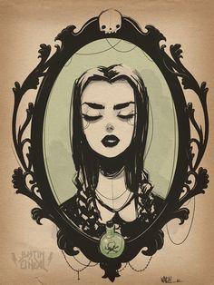 Wednesday Addams by Justin O'Neal