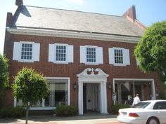 Liberty Place in historic downtown Rockingham. Historical buildings. North Carolina.
