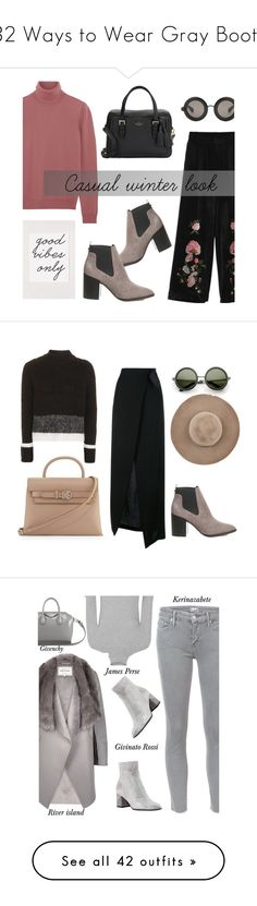 """""""32 Ways to Wear Gray Boots"""" by polyvore-editorial ❤ liked on Polyvore featuring waystowear, grayboots, Office, Bottega Veneta, Christopher Kane, Urban Outfitters, Kate Spade, Ann Demeulemeester, Eugenia Kim and Alexander Wang"""