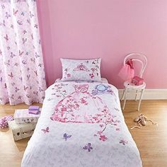 Glamour #princess butterflies fairytale pink girl #duvet quilt cover #bedding set,  View more on the LINK: 	http://www.zeppy.io/product/gb/2/152189759436/