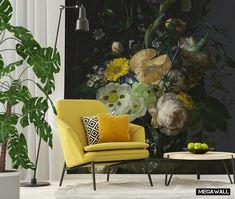 Wij zijn helemaal verliefd op deze prachtige muurbloemen!  Wat een heerlijke sfeer, wat een mooie kleuren! Vanaf nu is dit behang te bestellen in de webshop. Als standaard behangvoorstelling maar uiteraard kunnen we deze ook voor jou op maat maken. Levertijd: 1 - 1,5 week, gratis verzending in NL. Wij zeggen.....gewoon DOEN!  #wallpaper #flowers #walls #mural #behang #yellow #floral #spring #interior