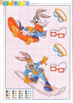 many Bugs Bunny sport characters