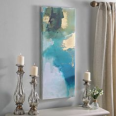 Turquoise Abstract I Canvas Art Print