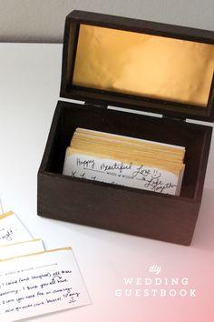 DIY Wedding Guestbook Box | Ann-Marie Loves
