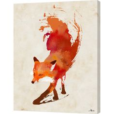 Let this bold canvas print complete your gallery wall in fresh style. Featuring a stylized fox, this eye-catching design looks perfect between a pair of matc...