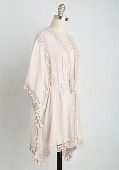 Sentimental Studies Jacket. Explore the romantic emotions you feel when you slip into this pastel kimono! #pink #modcloth