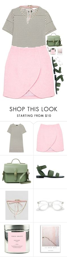 """""""Untitled #497"""" by obscurealice ❤ liked on Polyvore featuring A.P.C., Carven, The Cambridge Satchel Company, Paul Andrew, ASOS, True Grace and NARS Cosmetics"""