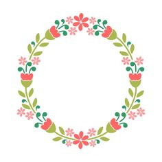 Floral Wreath Cuttable Design Cut File. Vector, Clipart, Digital Scrapbooking Download, Available in JPEG, PDF, EPS, DXF and SVG. Works with Cricut, Design Space,  Cuts A Lot, Make the Cut!, Inkscape, CorelDraw, Adobe Illustrator, Silhouette Cameo, Brother ScanNCut and other software.