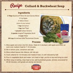 Soothe your soul from the cold winter winds with this Gluten-Free Collard Greens and Buckwheat Soup! Watch chef Dan Kohler put everything together on our Gluten-Free Facebook tab!
