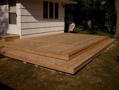 Deck ideas on pinterest platform deck decks and deck steps for Platform deck plans