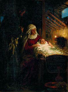 Илья  Репин,  Рождество  Христово.