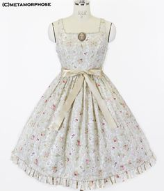 Antique Rose Ribbon Dress   metamorphose temps de fille - gothic   lolita  fashion in Japan 55ec16630fe