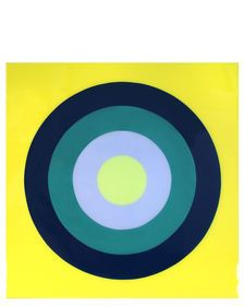 """Ultra Glossy Target Practice on Bright Lemon"" by Stephanie Henderson, Kenneth Noland, Chicago Cubs Logo, Art Oil, Original Artwork, Art Pieces, Gallery Wall, Target Practice, Lily, Wall Art"