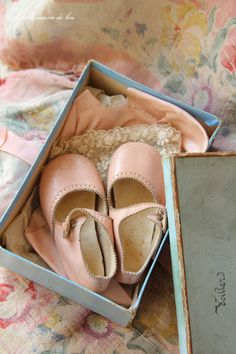Vintage pink baby shoes