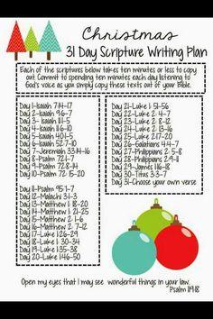 December Christmas Scriptures