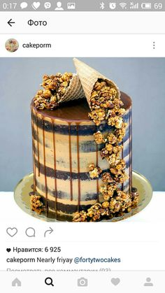 Salted caramel Six layers of seminaked vanilla bean and white chocolate cake + salted caramel Swiss meringue buttercream + salted caramel drip + a cascade of crunchy salted caramel and roasted peanut popcorn. Not for the faint hearted Cake stand: Bolo Drip Cake, Drip Cakes, Salted Caramel Desserts, Salted Caramels, Caramel Drip Cake, Salted Caramel Chocolate Cake, Caramel Treats, Chocolate Treats, Chocolate Caramels