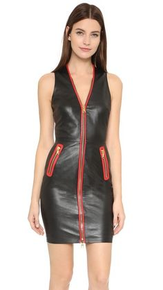 Boutique Moschino Sleeveless Leather Dress