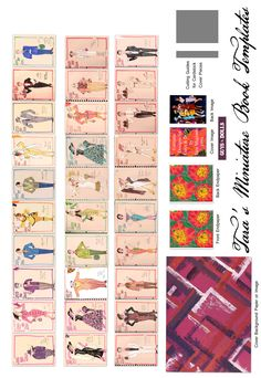 """Free Miniature Book Printie of my Costume Design for FLOT's """"Guys & Dolls"""" in 1995.  Make your own 1.5"""" dollhouse book."""