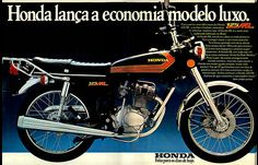 Anúncio moto Honda 125 ML - 1977