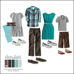 Love the dress for mom and the simple outfit for dad - great for SPRING family photos!