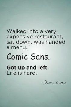 death to Comic Sans