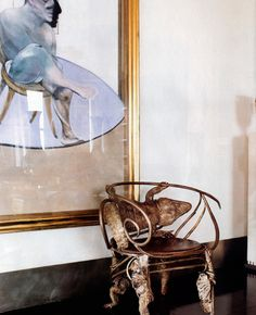 Giancarlo Giammetti apt with Lalanne chair, Francis Bacon. architecture by Peter Marino.