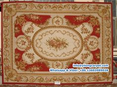 YT-1099  Aubusson Rug made of New Zealand Wool, Handmade Rug Made By Yilong Carpet.