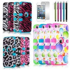 Hybrid Impact Hard & Soft Rubber Rugged Case Cover for iPod Touch 5th Gen 5 5G - $8.97