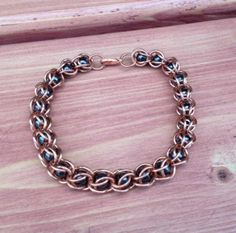 This bracelet is made with copper rings and magnetic and hematite beads. These materials have been known to help provide some people with pain relief. #arthritis #rsi #carpaltunnel #antiinflammatory #fibromyalgia