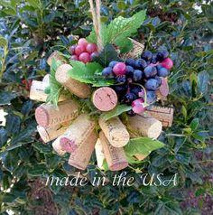 valentine's wedding kissing ball/ wine cork kissing by Corkycrafts