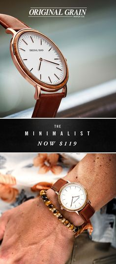 The Minimalist is the perfect everyday essential. Simple and streamlined with a touch of wood. Now $119