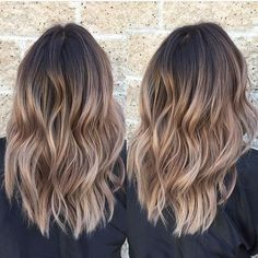 """ashy brown"" color for balayage tips"