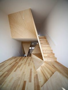 stairs from New Kyoto Town House (Alphaville Architects) http://a-ville.net/project/a120.html