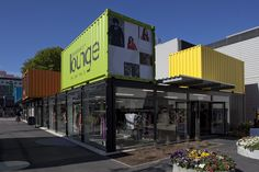 Re:START Container Shopping Precinct in  Post-Quake Christchurch.  I love this place - it has a great atmosphere and is something special which has grown from such sadness