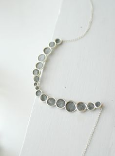 Minimalist Sterling Silver Bubble Necklace by TaylorsEclectic