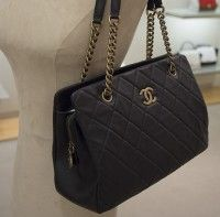 Chanel Black CC Crown Tote Small Bag #chanel #handbags