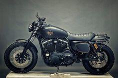Stealthy: a Harley-Davidson Sportster 1200 custom built by Renard Speed Shop.