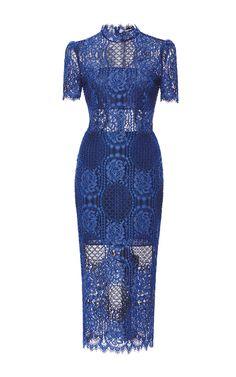 Delila Lace Dress by ALEXIS Now Available on Moda Operandi High Neckline  Dress 341309a85