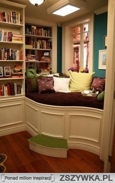 What a great place to curl up with a book!