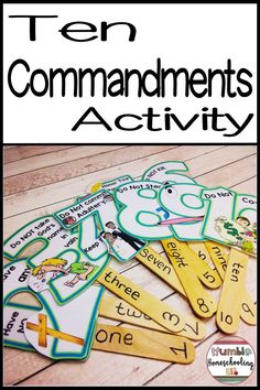 Children will love these Ten Commandments hands on last minute bible activities. This Bible lesson i Toddler Bible Lessons, Bible Activities For Kids, Preschool Bible Lessons, Bible Crafts For Kids, Bible Study For Kids, Church Activities, Children Church Lessons, Church Games, Kids Church Crafts