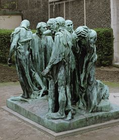 The Burghers of Calais, 1886 Auguste Rodin pronssiveistos  Rodon museum Pariisi