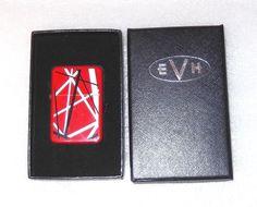 Eddie Van Halen EVH Classic Red Stripes Refillable Metal Flip Top Lighter  Boxed ef565c1bbbc8