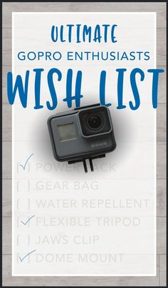 Ultimate GoPro Enthusiasts Wish List for Birthdays, Holidays. Any Time! Gopro Camera, Leica Camera, Nikon Dslr, Film Camera, Camera Gear, Gopro Video, Gopro Accessories, Amigurumi, Gopro Kamera