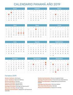 Calendario Panama 2019 Con Festivos.Calendario Hispano Calendariohispano Auf Pinterest