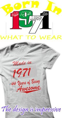 44 YEARS IS BIG PARTY FOR YOU IN 2015  IF YES, THIS SHIRT IS FOR YOU.  GET IT WITH PROUD AND CONFIDENCE.  WORLDWIDE SHIPPING.  ENJOY!!!