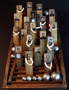 Thinking outside the genealogy box! 23 Sandy Gallery Family Matters by Julie Shaw Lutts. This is a wonderful idea! Collages, Collage Art, Altered Books, Altered Art, Found Object Art, Find Objects, Assemblage Art, Handmade Books, Art Design