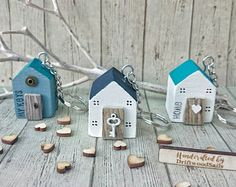 WOODEN KEYRING, Driftwood, New Home Gift, Driftwood Art, Wooden House, Wooden Keychain, Gift for Her, Unique Keyring, Personalised Keyring
